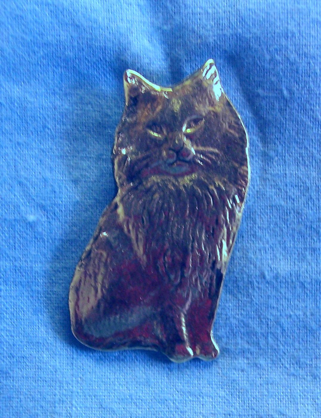 Beautiful 0231x Sitting Persian Clutch Back Pin 1 1/4u2033x 5/8u2033 Solid Lead Free Pewter  $11.00